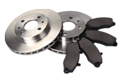 automobile brake rotors and pads