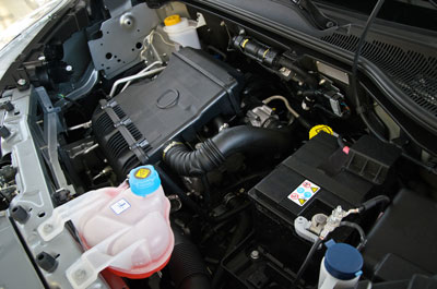 automobile engine compartment