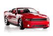 red muscle car convertible